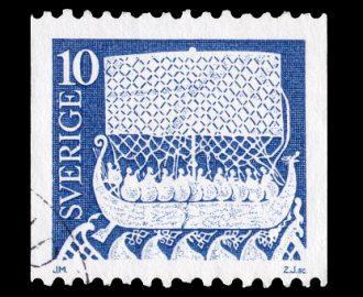 Svenskt frimärke inspirerad av gotländsk hällristning